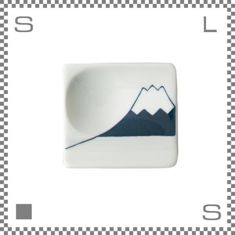 aiyu アイユー 重宝皿 富士山 青 ブルー W8/D7.2/H1.3cm スクエアプレート 万能皿 箸置きスペースあり 波佐見焼 日本製