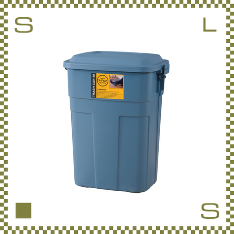 トラッシュカン 50L ネイビー W45.5/D32/H57.6cm ペール ごみ箱 ゴミ箱 azu-lfs936nv