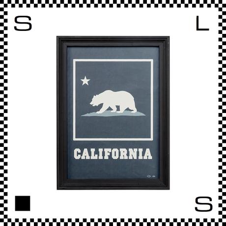 アートワークスタジオ アートフレーム A2サイズ カリフォルニア ブラックフレーム W480/D45/H657mm ポスター付フレーム アートポスター TR-4198-CA
