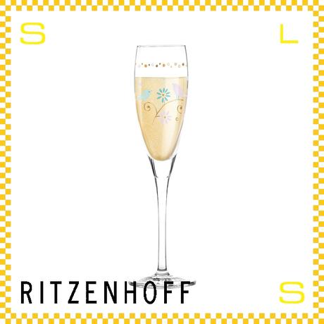 RITZENHOFF リッツェンホフ シャンパングラス 120ml パールズ フローラ・ウェイコット Φ45/H220mm フルートグラス 花柄 ギフト  ritz-3250016
