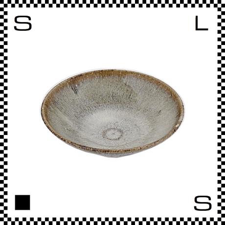 笠間焼 鈴木まるみ 小皿 黒糠 Φ12/H4cm(高台径:4cm) ハンドメイド プレート ラウンドプレート 日本製