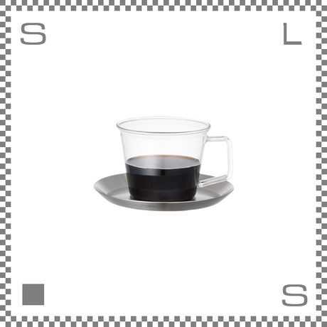 KINTO キントー CAST キャスト コーヒーカップ&ステンレスソーサー 220ml 耐熱ガラス製カップ