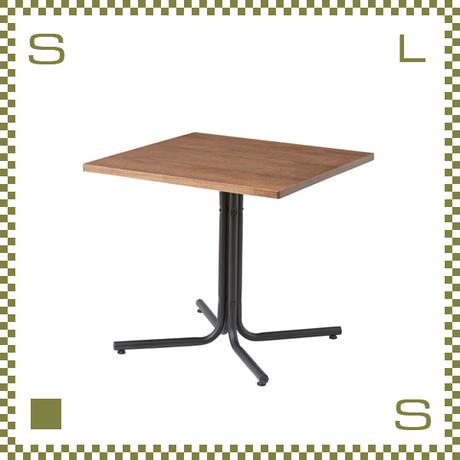 カフェテーブル スクエア ブラウン W75/D75/H67cm 1本脚テーブル シンプルナチュラル 北欧デザイン azu-end223tbr