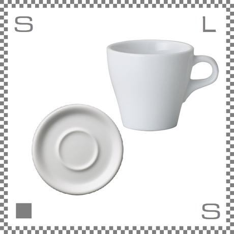 ORIGAMI オリガミ カプチーノカップ&ソーサー ホワイト 6oz 180cc コーヒーカップ&ソーサー バリスタが設計 日本製