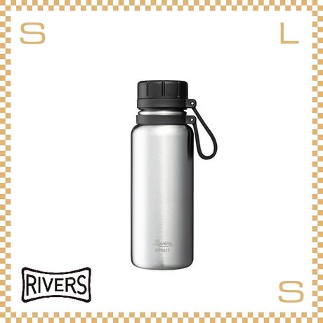 RIVERS リバーズ バキュームフラスク スタウト 500 シルバー W100/D74/H215mm 500ml 約330g 魔法瓶 ストラップ付 中栓付 ステンレス製