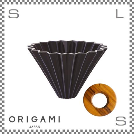 ORIGAMI オリガミ ドリッパーセット ドリッパー Mサイズ ネイビー 2~4杯用 &専用ドリッパーホルダー