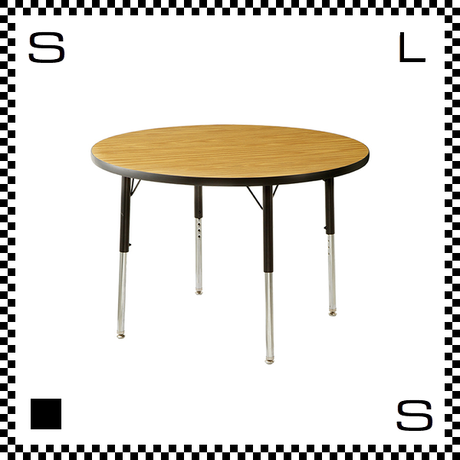 ヴァルコ ラウンドテーブル Sサイズ オーク 直径915mm VIRCO社 高さ調節可能 ユニバーサルデザイン  TR-4274-OK