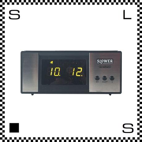 SLOWER スロワー Bradham ブラハム LED W160/D71/H80mm デジタル時計 レトロ風 置時計 置き時計 アダプター付属