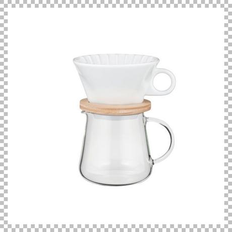 SNOWTOP COFFEE series スノウトップ コーヒーポット&ドリッパーセット 400ml W175/D130/H265mm ドリッパースタンドセット