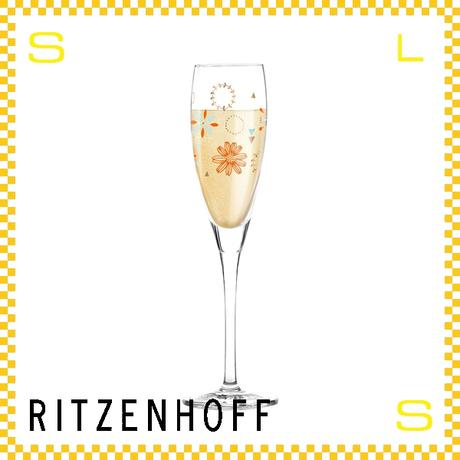 RITZENHOFF リッツェンホフ シャンパングラス 120ml フラワー フローラ・ウェイコット Φ45/H220mm フルートグラス 花柄 ギフト  ritz-3250015