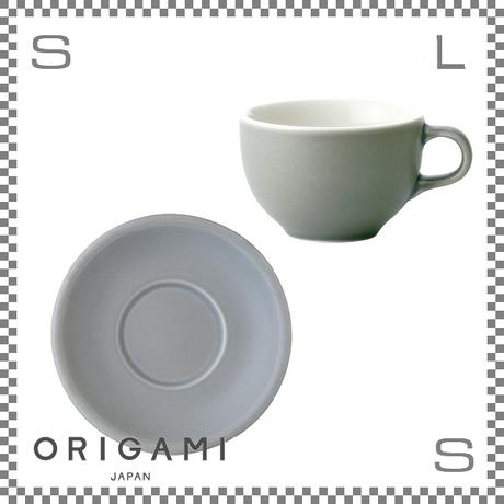 ORIGAMI オリガミ ラテボウル&ソーサー マットグレー 6oz 180cc コーヒーカップ&ソーサー バリスタが設計 日本製