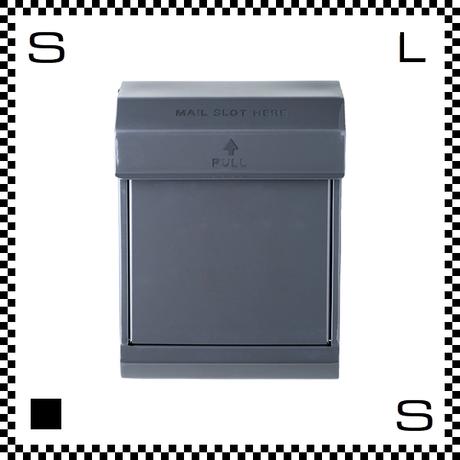 アートワークスタジオ メールボックス ダイヤル式 ダークグレー W283/D190/H380mm 壁付ポスト 鍵付き 郵便ポスト  TK-2079-DGY