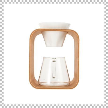 SNOWTOP COFFEE series スノウトップ コーヒーポット&ドリッパーセット 600ml Barafu W175/D130/H265mm ドリッパースタンドセット