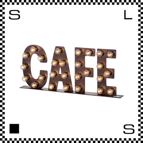 アートワークスタジオ バルブサインランプ CAFE W560/H235mm 自立式 フック用穴あり レトロアメリカン スタンドライト アイアン スチール AW-0405V