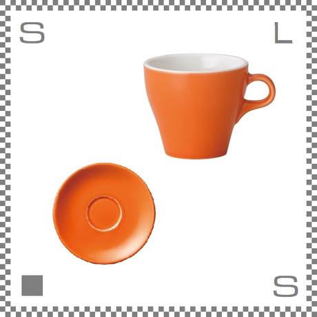 ORIGAMI オリガミ エスプレッソカップ&ソーサー オレンジ 3oz 90cc デミタスカップ&ソーサー バリスタが設計 日本製