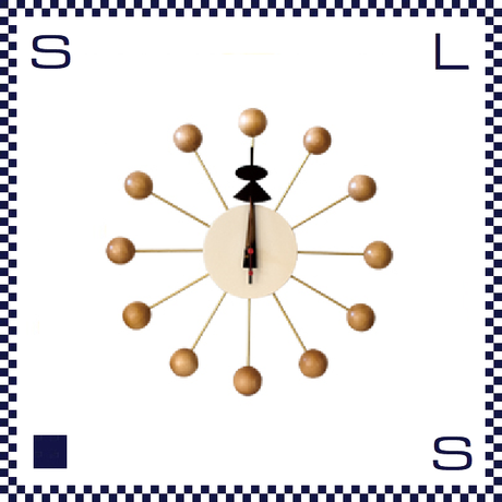 HERMOSA ハモサ BALL CLOCK ボールクロック ホワイト ジョージネルソン リプロダクト Φ335/D70mm ウォールクロック