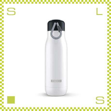 ZOKU ゾク ステンレスボトル 500ml ホワイト ダブルウォール ストラップ付 魔法瓶 水筒 携帯ボトル