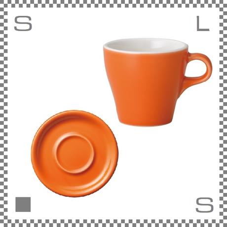 ORIGAMI オリガミ カプチーノカップ&ソーサー オレンジ 6oz 180cc コーヒーカップ&ソーサー バリスタが設計 日本製