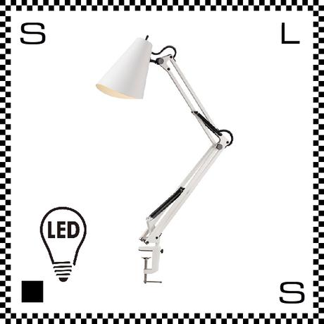アートワークスタジオ Snail スネイルデスクアームライト ホワイト LED電球付 アーム:780mm クランプ型 デスクランプ 鋳物 AW-0369E-WH