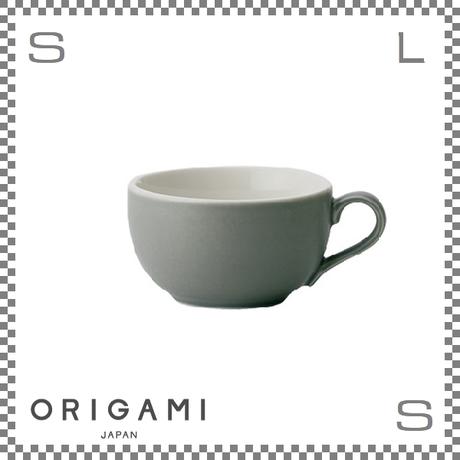 ORIGAMI オリガミ ラテボウル マットグレー 8oz Φ100/W125/H57mm 250cc コーヒーカップ バリスタが設計 日本製