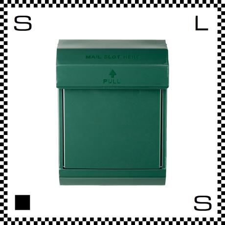 アートワークスタジオ メールボックス ダイヤル式 グリーン W283/D190/H380mm 壁付ポスト 鍵付き 郵便ポスト  TK-2079-GN
