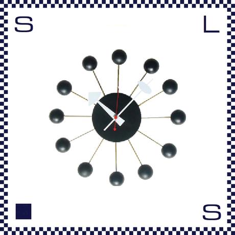 HERMOSA ハモサ BALL CLOCK ボールクロック ブラック ジョージネルソン リプロダクト Φ335/D70mm ウォールクロック