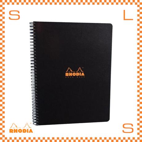 ROHDIA ロディア ノート ダブルリングノート A4 横罫 ブラック 3冊セット 22.5×29.7cm 160P フランス製