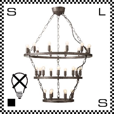 アートワークスタジオ Elements27 電球なし アンティークシャンデリア 3段 27灯 Φ685/435mm 上向きシャンデリア クラシック レトロ AW-0383Z