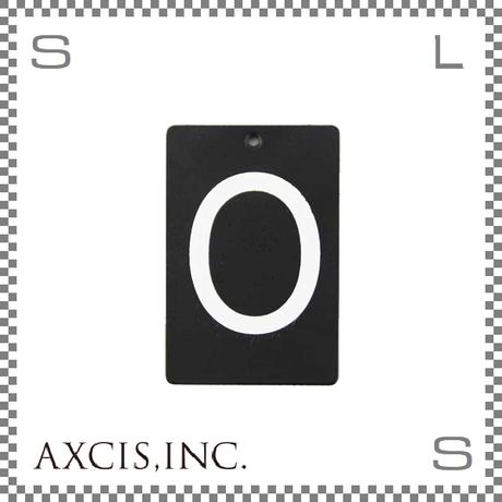 """AXCIS アクシス アイアンプレート """"O"""" W40/D2/H60mm アルファベットプレート スチール製 アイアンネームプレートホルダー用 hs2572"""