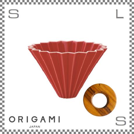 ORIGAMI オリガミ ドリッパーセット ドリッパー Mサイズ レッド 2~4杯用 &専用ドリッパーホルダー