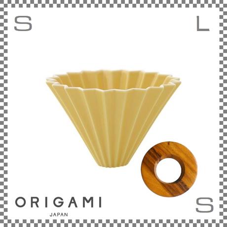 ORIGAMI オリガミ ドリッパーセット ドリッパー Mサイズ イエロー 2~4杯用 &専用ドリッパーホルダー