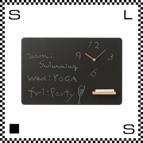 CLOCKBOARD クロックボード W450/D50/H300mm 時計付き 黒板 ウォールクロック 壁掛け時計 スイープクオーツ使用 日本製
