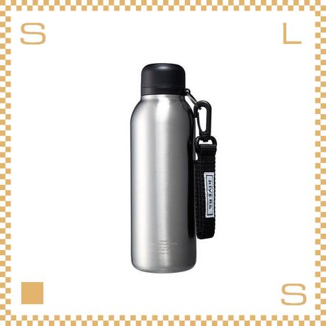RIVERS リバーズ バキュームフラスク ステム BL シルバー W80/D70/H225mm 500ml 約200g 魔法瓶 ストラップ付
