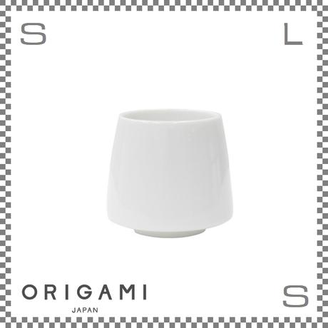 ORIGAMI オリガミ アロマ フレーバーカップ ホワイト Φ80/H73mm 200cc コーヒーカップ ハンドルレス アロマが愉しめる 日本製