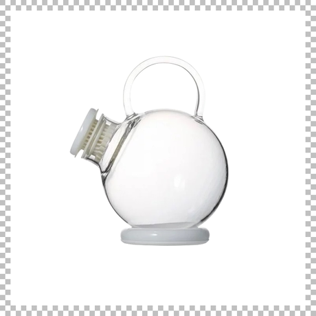 SNOWTOP TEA series スノウトップ ティーポット ホワイト 500ml W145/D110/H140mm 耐熱ガラス製 蓋・スタンド・ストレナー付き