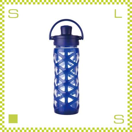 LIFEFACTORY ライフファクトリー グラスボトル アクティブキャップ 475 サファイヤ 475ml 携帯ボトル ガラスボトル