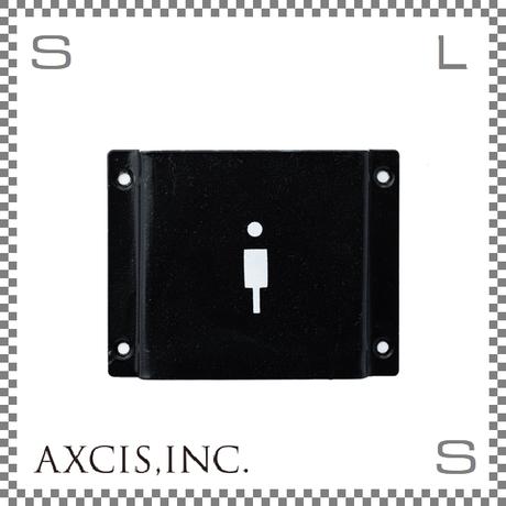 AXCIS アクシス アイアンサイン Men W103/D12/H80mm メン スチール製 スチールプレート hs2584