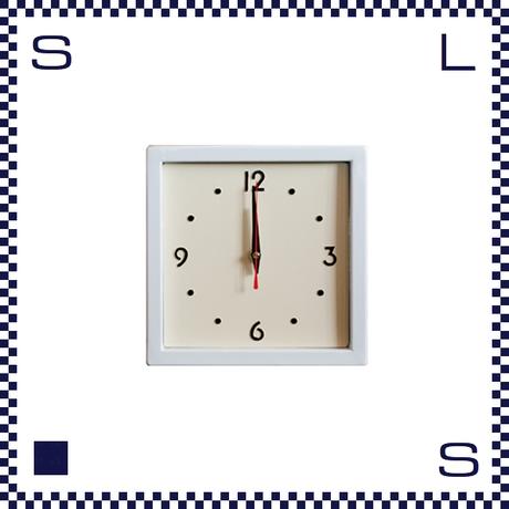 HERMOSA ハモサ スクエアスチールクロック ホワイト ウォールクロック 掛け時計