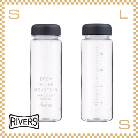 RIVERS リバーズ リユースボトル S500 アンプラグド ロゴ 500ml W65/D65/H195mm ウォーターボトル スプラッシュガード付 保存容器