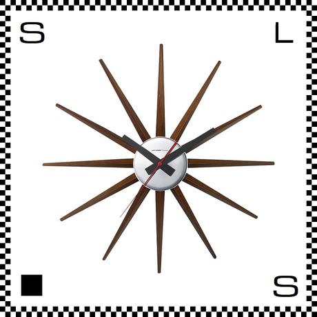 アートワークスタジオ Atras2 アトラス ブラウン  直径465mm ウォールクロック 掛け時計 ネルソン風 放射線状 ブナ無垢材使用 TK-2074-BN