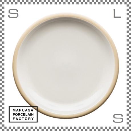丸朝製陶所 %PORCELAINS ポーセリンズ プレート Lサイズ グロスホワイト Φ244/H26mm 日本製