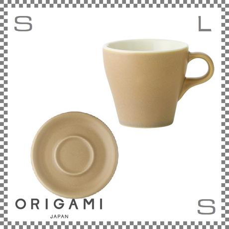 ORIGAMI オリガミ カプチーノカップ&ソーサー マットベージュ 6oz 180cc コーヒーカップ&ソーサー バリスタが設計 日本製