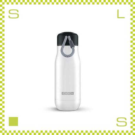 ZOKU ゾク ステンレスボトル 350ml ホワイト ダブルウォール ストラップ付 魔法瓶 水筒 携帯ボトル