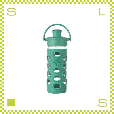 LIFEFACTORY ライフファクトリー グラスボトル アクティブキャップ 350 ケール グリーン 350ml 携帯ボトル ガラスボトル