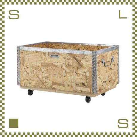 OSBスタッキングボックス キャスター付き Lサイズ W51.5/D33/H28.5cm ハンドル付き 収納ボックス azu-lfs172
