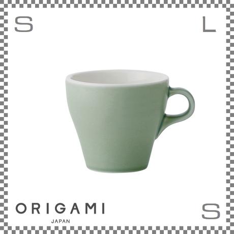 ORIGAMI オリガミ ラテカップ マットグリーン 8oz Φ90/W112/H81mm 250cc コーヒーカップ バリスタが設計 日本製
