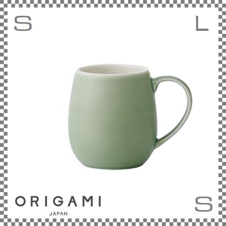 ORIGAMI オリガミ バレルアロママグ マットグリーン Φ85/W110/H90mm 320cc コーヒーカップ バリスタが設計 日本製