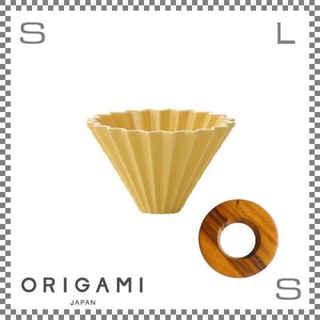 ORIGAMI オリガミ ドリッパーセット ドリッパー Sサイズ イエロー 1~2杯用&専用ドリッパーホルダー