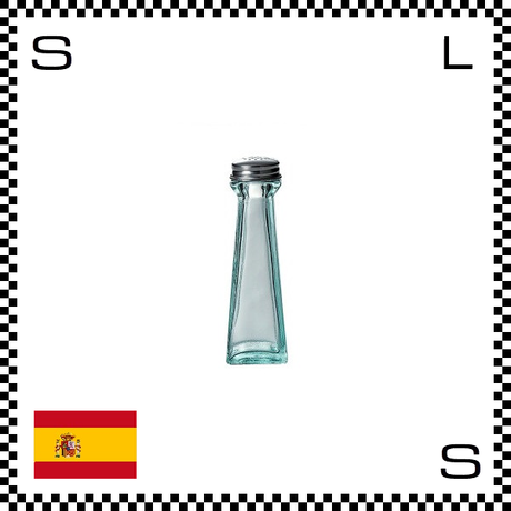 リサイクルガラス ガラスシェイカー 80cc W45/D45/H138mm 塩入れ 調味料入れ スペイン製 g490061