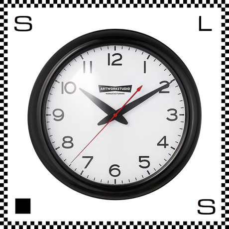 アートワークスタジオ Franklin フランクリンクロック ブラック/ホワイト  直径35cm ウォールクロック 掛け時計 オールドアメリカン風 TK-2071-BKWH